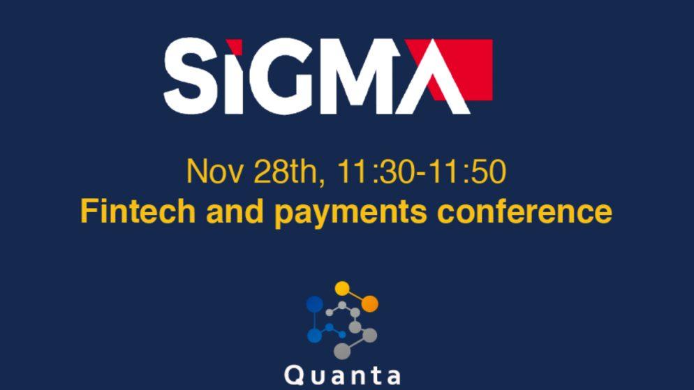Quanta joins SiGMA, Nov 27th to Nov 29th