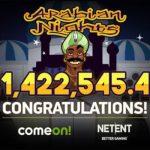 Swedish online casino player banks €1.4 million Arabian Nights jackpot