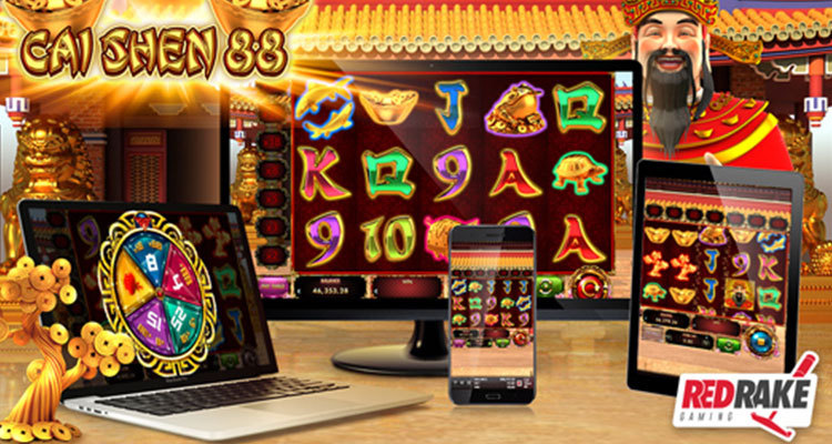 Explore lucky symbols of Chinese culture in Red Rake Gaming's new Cai Shen 88 slot game