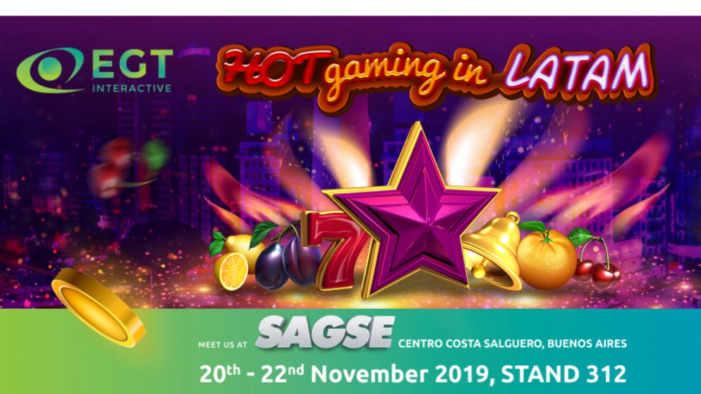 For 2nd year in a row SAGSE Expo in Buenos Aires welcome EGT Interactive