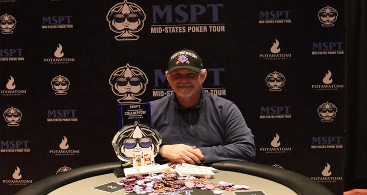 Gerald Heath earns 2019 MSPT Wisconsin State Poker Championship Main Event win