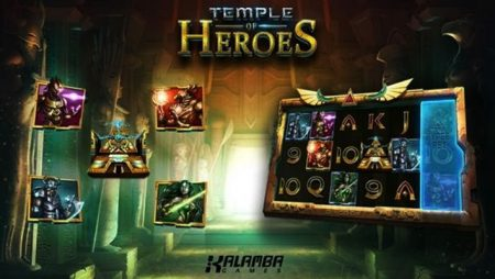 Kalamba Games launches new Temple of Heroes slot game