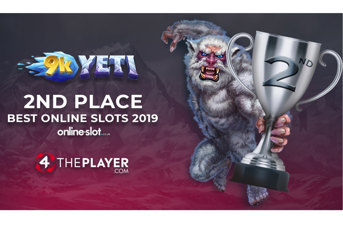 9k Yeti Awarded 2nd BEST ONLINE SLOT 2019!