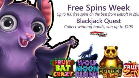 Intertops Poker offering new extra spins offer this week featuring popular Betsoft titles