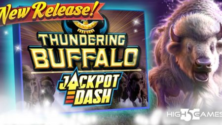 High 5 Games reveals new online slot Thundering Buffalo Jackpot Dash with unique Jackpot feature