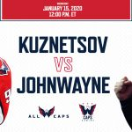 Capitals Player Evgeny Kuznetsov and Caps Gaming's JohnWayne to Play NHL 20 Jan. 15