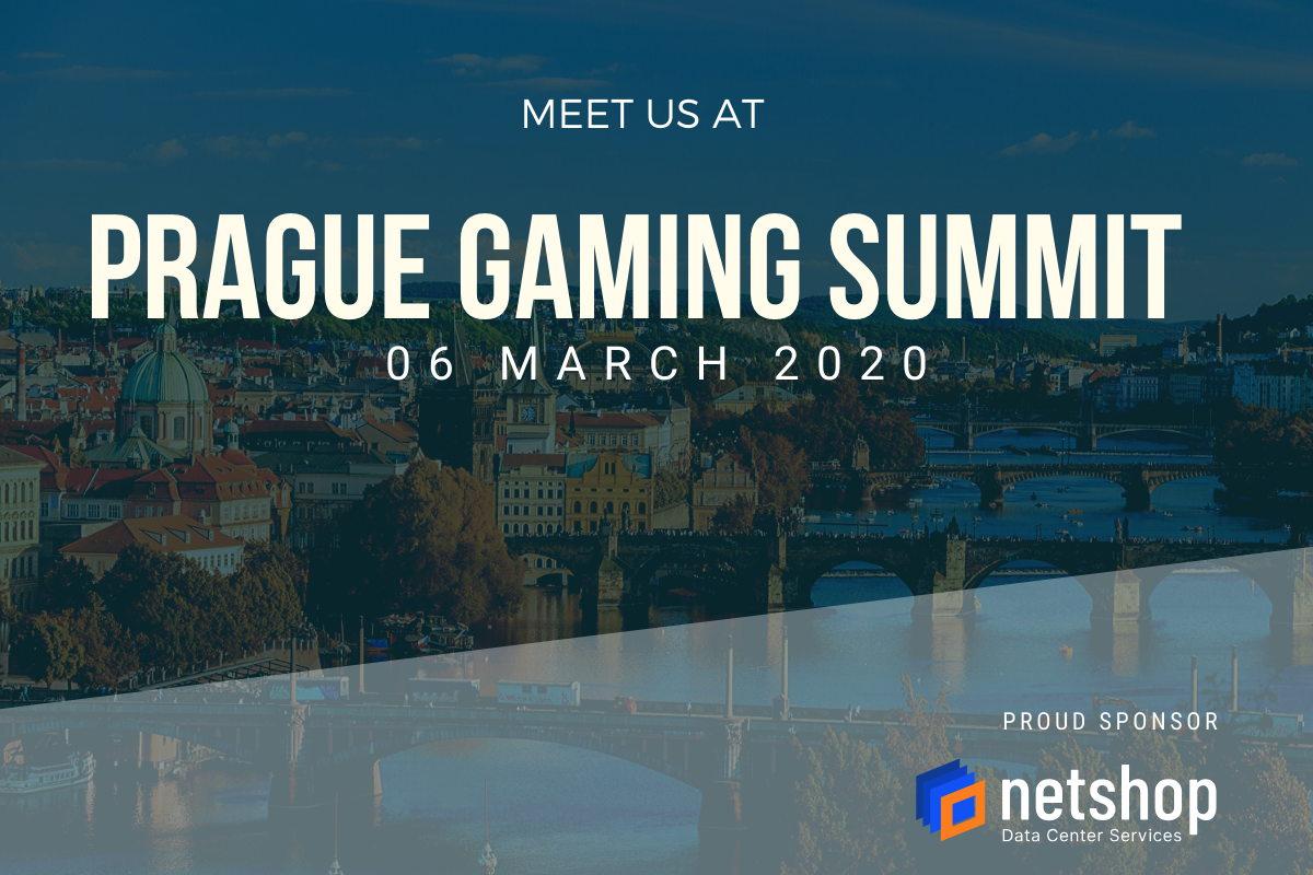 NetShop ISP, Award Winning Data Center Provider, announced as General Sponsor at Prague Gaming Summit 2020