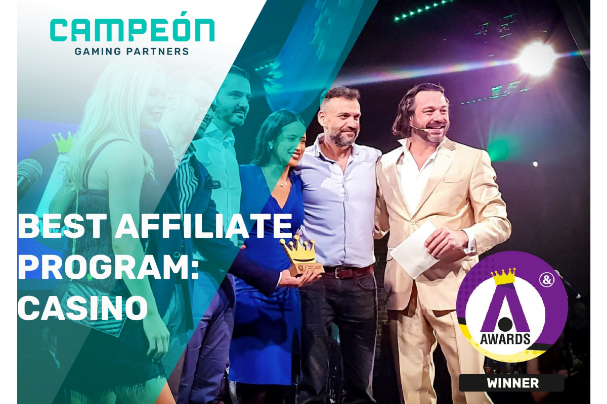 Campeón Gaming Partners wins Best Affiliate Program: Casino award at the iGB Affiliate Awards 2020