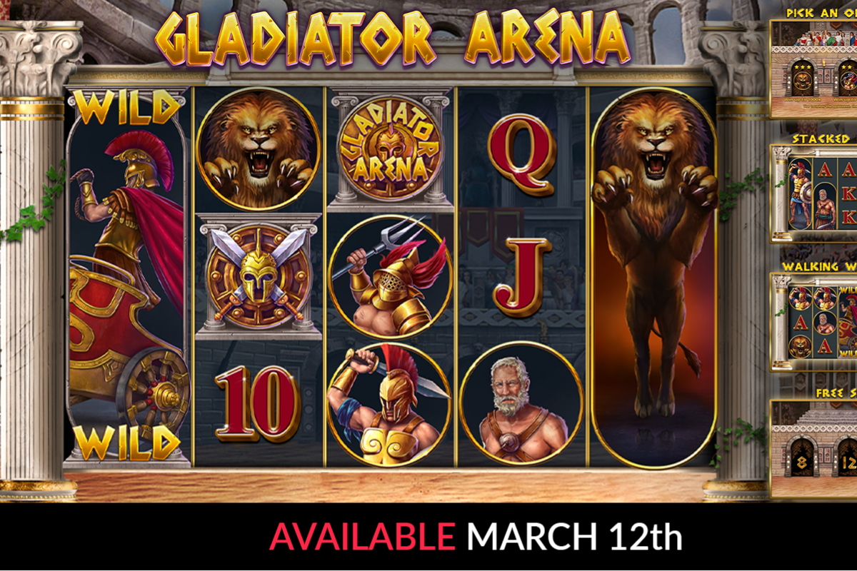 "Shane Cotter, Booming Games' Director of Product invites you to ""join Booming Games on the battlefield as Gladiator Arena is unleashed."""