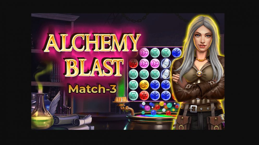A new match-3 game by Skillzzgaming: 'Alchemy Blast' – a magical pursuit of enigmatic elements and elixirs