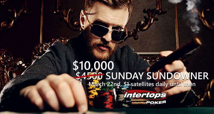 Intertops Poker increases Sunday Sundowner tournament to $10k guarantee; with daily $1 satellites