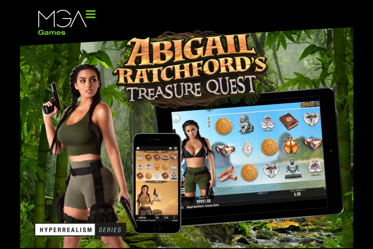 MGA Games has turned Abigail Ratchford into the Queen of the Hyperrealism Series