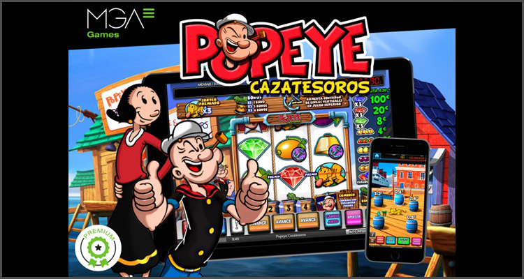 MGA Games sets sail with new Popeye Cazatesoros video slot