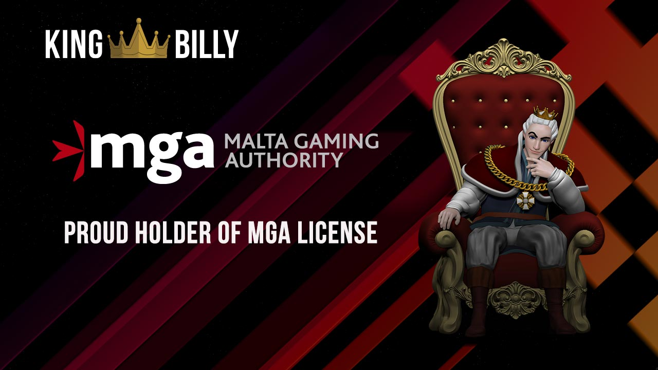 King Billy Casino, a proud holder of MGA license