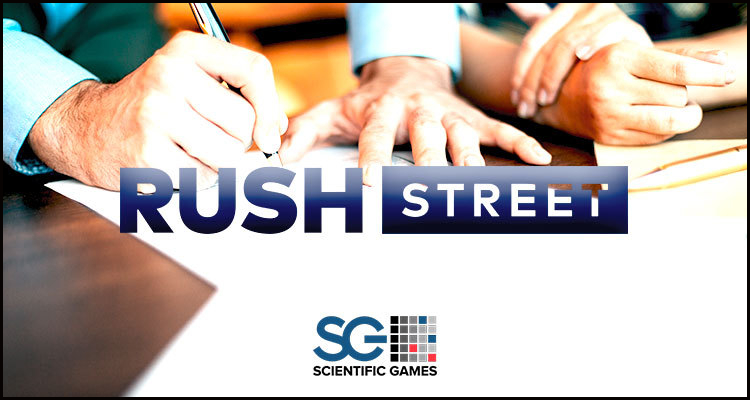 Scientific Games Corporation content supply deal for Rush Street Interactive