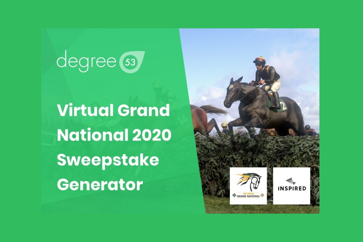 Degree 53 create an online sweepstake for the Virtual Grand National for remote workers