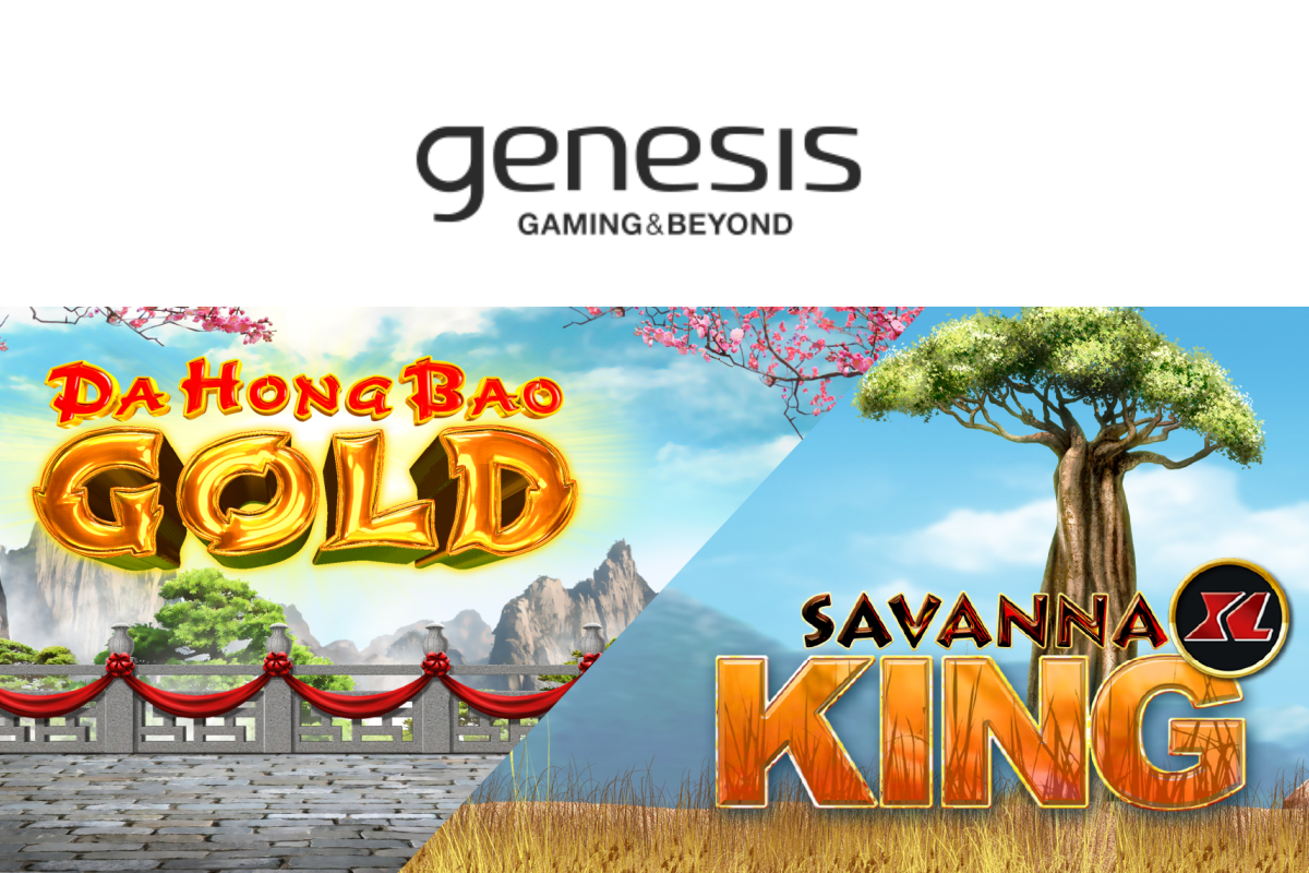 Genesis Gaming Inc. launches Da Hong Bao Gold, a sequel to Da Hong Bao, and Savanna King XL for high rollers!