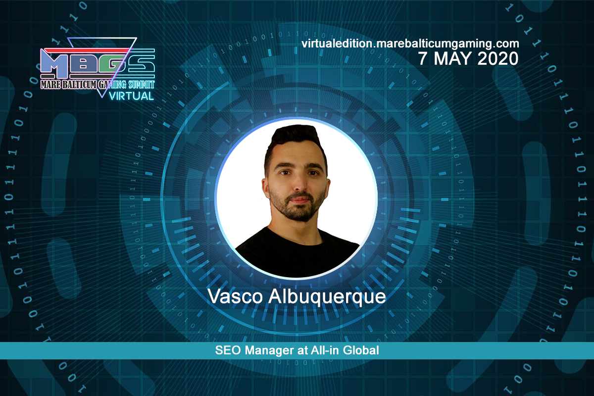 #MBGS2020VE announces Vasco Albuquerque, SEO Manager at All-in Global, among the speakers.