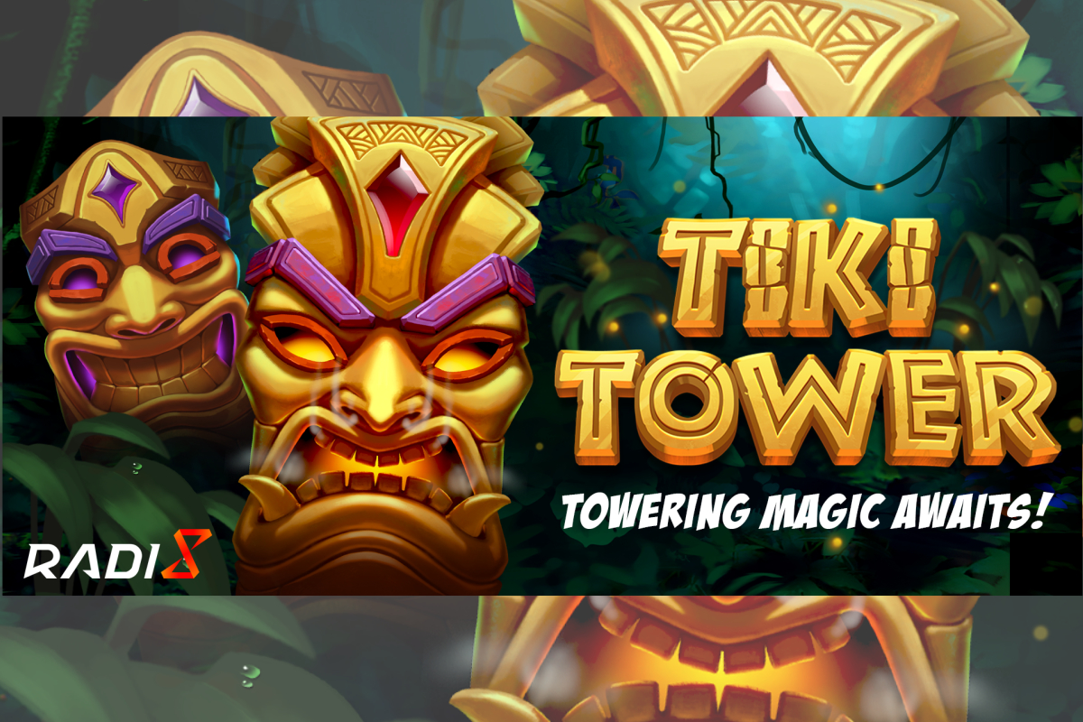 Tiki Tower, new game release by Radi8 with an extendable reel up to 80 pay-lines!
