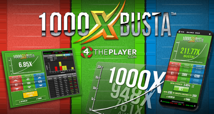 4ThePlayer releases new multiplier game 1000x BUSTA