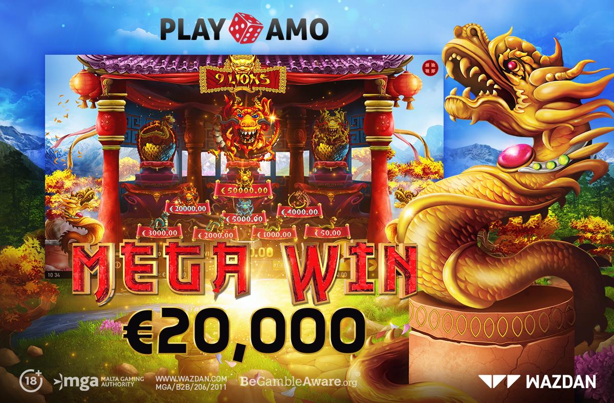 Big Win at Playamo on Wazdan's 9 Lions