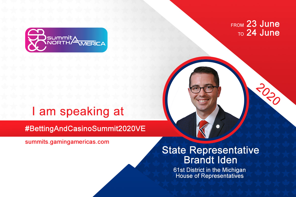 State Representative Brandt Iden to join speaker lineup at the Sports Betting & Casino Summit North America 2020