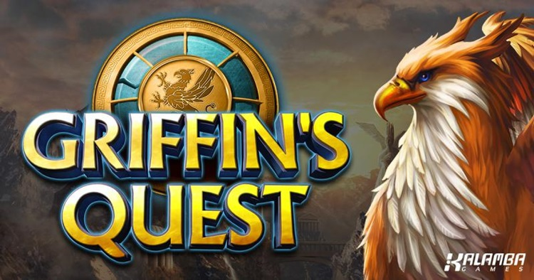 Battle mythological creatures in search of the Griffin in Kalamba Games Griffin's Quest online slot