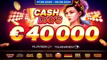 Playson announces August CashDays Tournament offering huge €40,000 prize pool