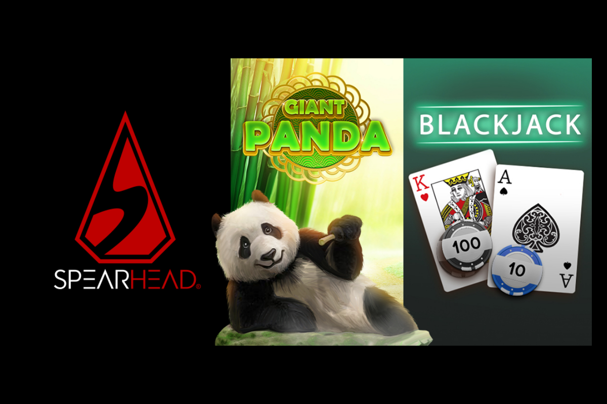 Spearhead Studios releases Blackjack and Giant Panda slot