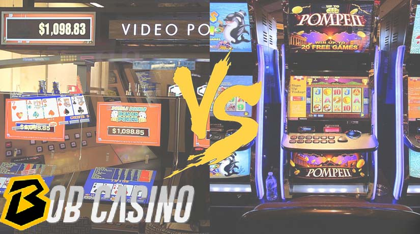 4 Major Differences Between Video Slot Machines and Video Poker