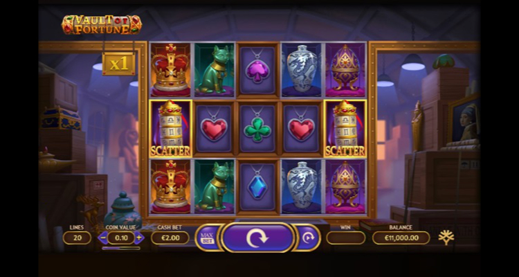 Yggdrasil's latest slot release Vault of Fortune first game developed using GATI technology