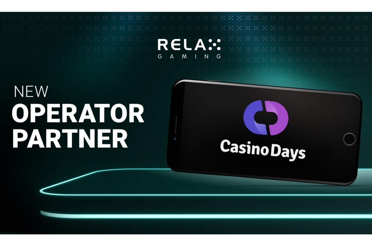 Relax Gaming teams up with brand-new operator Casino Days