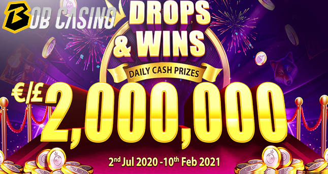 €2,000,000 Drops & Wins Tournament on Bob Casino: How to Play, Prizes and More