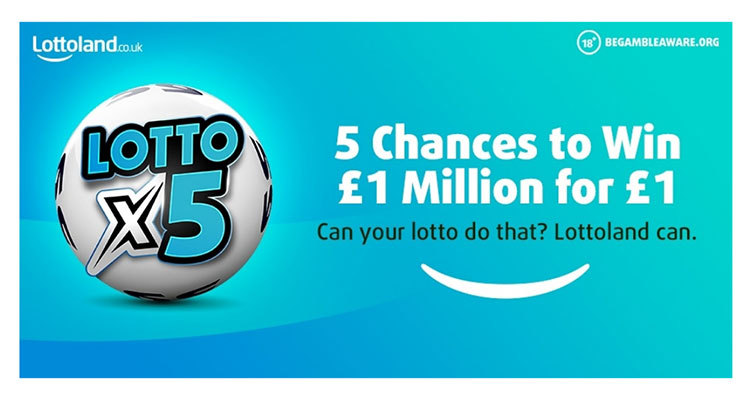 Lottoland UK's new Lotto x5 betting game offers chances to win £1 million for £1