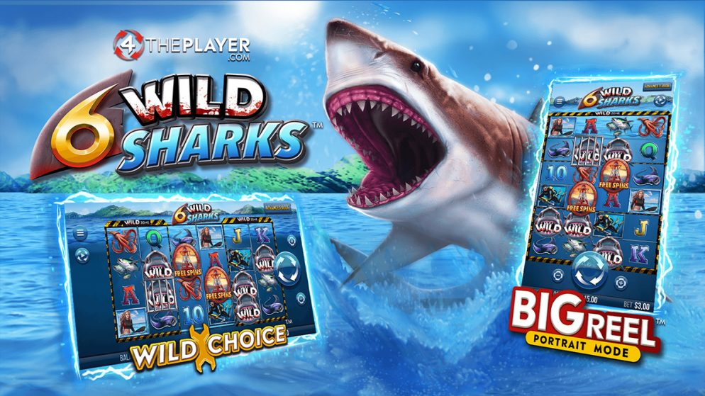 Dive into WILD Shark infested waters and play your way with latest release 6 Wild Sharks by 4ThePlayer.com
