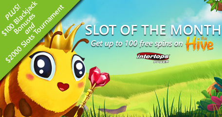Betsoft's new online slot The Hive offering extra spins at Intertops Poker as slot of the month