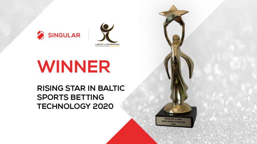Singular Wins Rising Star in Baltic Sports Betting Technology at BSG Awards