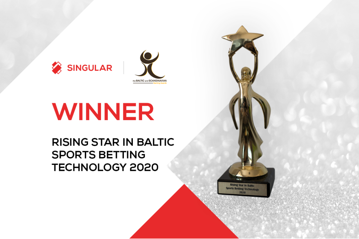 Singular Wins Rising Star in Baltic Sports Betting Technology at BSG Awards