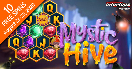 Intertops Poker highlights new Mystic Hive slot game and blackjack this week via special offers