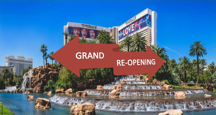 MGM Resorts announces Aug 27 reopening for Mirage on Las Vegas Strip: Park MGM remains closed