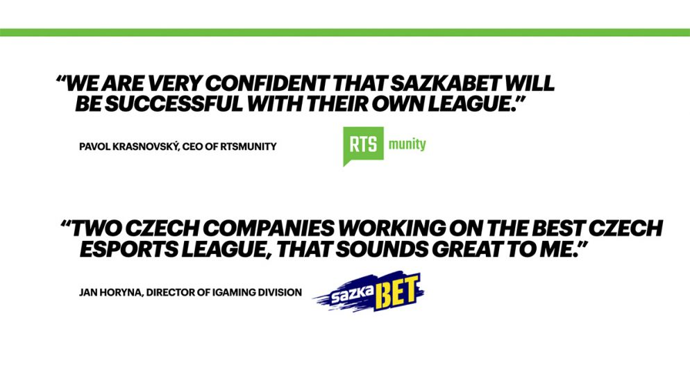 RTSmunity and Sazkabet extend collaboration on Sazka eLEAGUE, the biggest esports league in the Czech Republic and Slovakia
