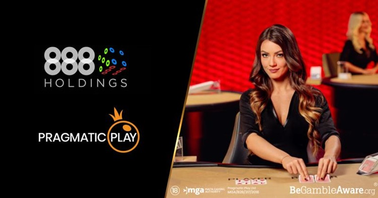 Pragmatic Play to launch its slot and live casino content on 888casino