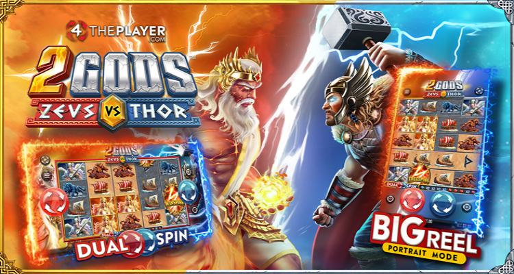 4ThePlayercom launches online slot 2 Gods Zeus vs Thor with world-first innovation DUAL SPIN