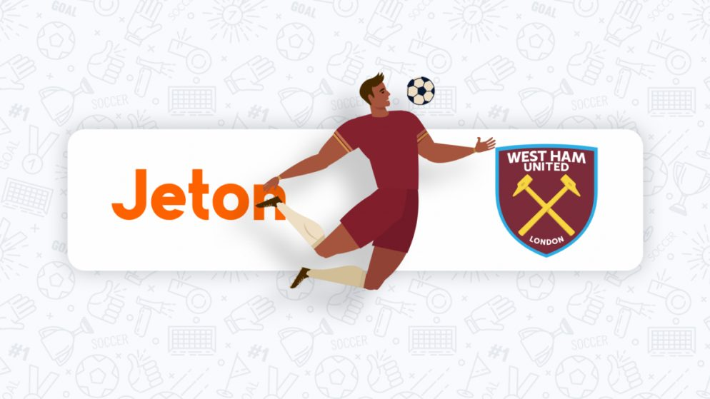 Jeton Becomes Official E-Wallet Partner of West Ham United