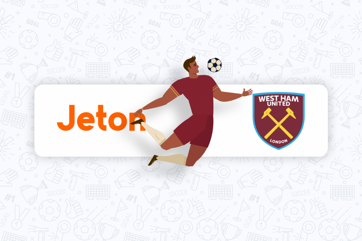 Jeton Becomes Official E-Wallet Partner of West Ham United