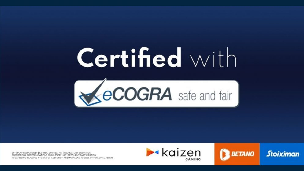Stoiximan and Betano Awarded eCOGRA Safe and Fair Seal