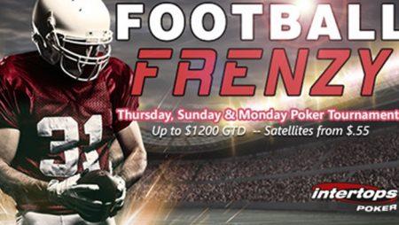 Intertops Poker's Football Frenzy Tournaments return for NFL Football season