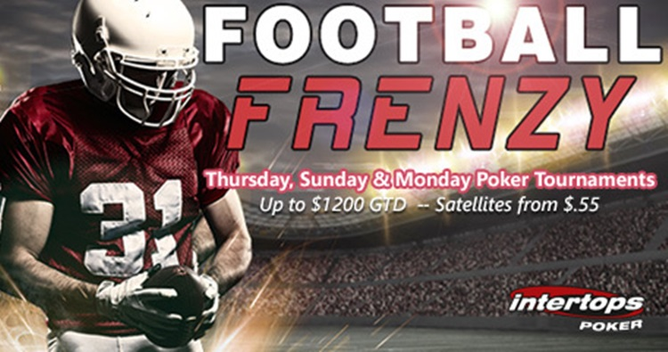Intertops Poker's Football Frenzy Tournaments return for NFL Football season
