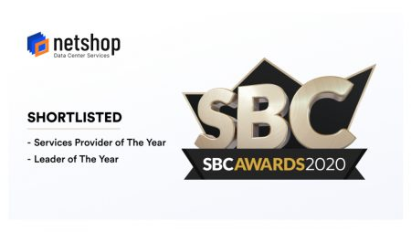 Leading Data Center Provider, NetShop ISP, Shortlisted in 2 Categories in the SBC Awards 2020