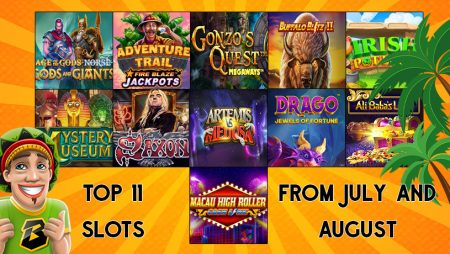 Top 11 Slots from July and August of 2020